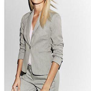 Express design notch collar, one button blazer